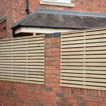 Hartwood 3' x 6' Pressure Treated Contemporary Double Slatted Fence Panel