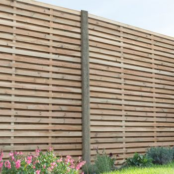Hartwood 6' x 6' Pressure Treated Contemporary Slatted Fence Panel