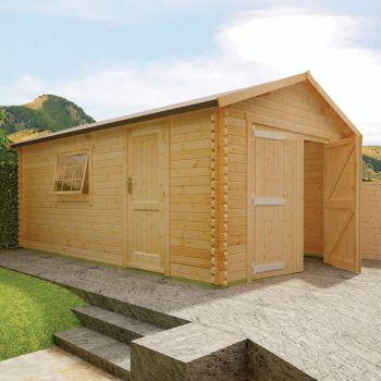 Redlands 3.6m x 6m Wooden Garage