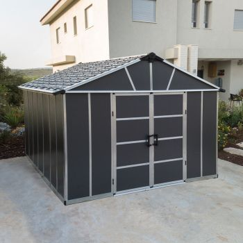 Palram 11' x 13' Yukon Dark Grey Shed With Floor
