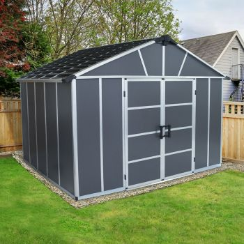 Palram 11' x 9' Yukon Dark Grey Shed