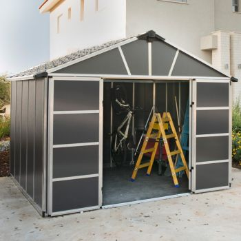 Palram 11' x 9' Yukon Dark Grey Shed With Floor