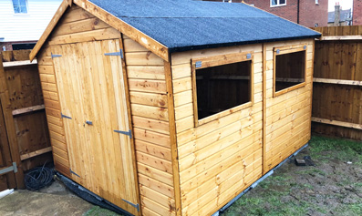 Adley 8' x 10' Premium Double Door Shiplap Apex Shed