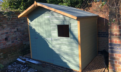 Pre Painted Shed