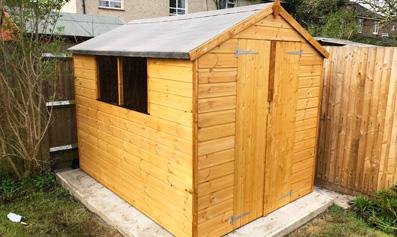 Adley 6' x 8' Double Door Shiplap Apex Shed