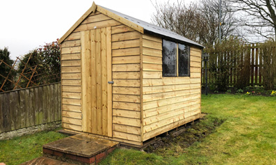 Hartwood 6' x 8' Overlap Pressure Treated Apex Shed