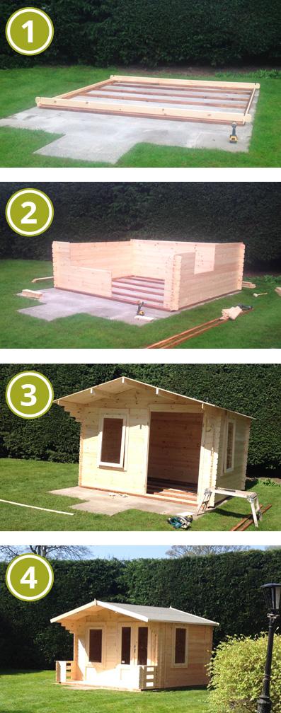 Installing an Adley 3.3m x 3.4m Newhaven Log Cabin with Veranda