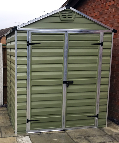 Adley 6' x 5' Skylight Plastic Olive Green Shed