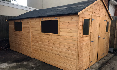 Adley 10' x 20' Premium Double Door Shiplap Apex Workshop