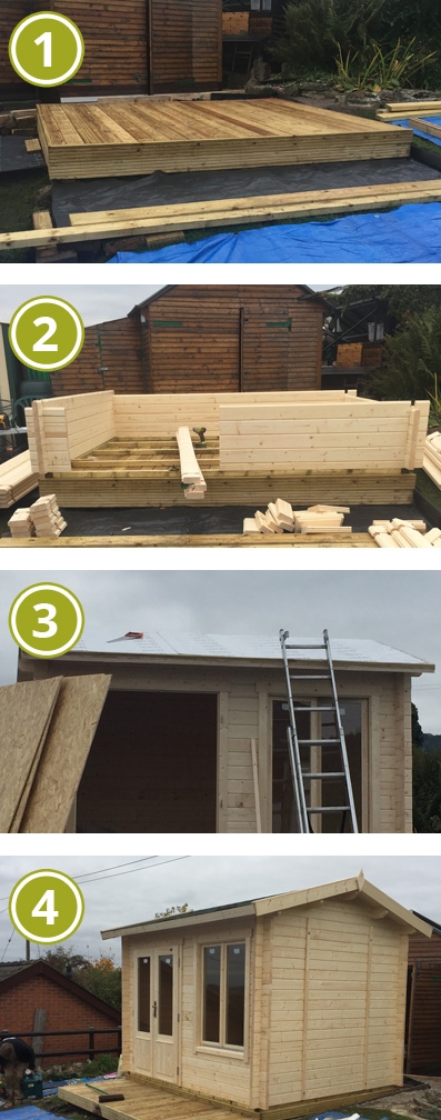 Installing a Greenway 3m x 2.5m Elizabeth Log Cabin