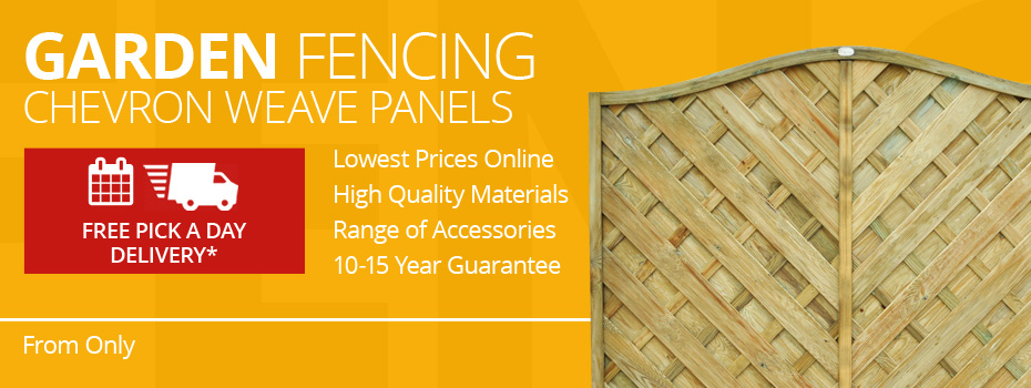 Chevron Weave Fence Panels