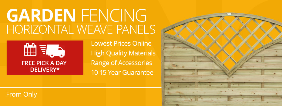 Horizontal Weave Fence Panels
