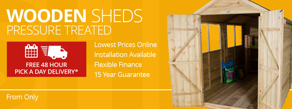 Pressure Treated Wooden Sheds